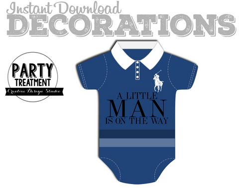 Polo Baby Shower Onesie Centerpiece and decorations by Party Treatment