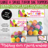Twotti Frutti Bag Toppers, INSTANT ACCESS Digital Download