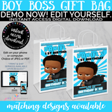 African American Curly Hair Boss Baby Boy Birthday Invitation, INSTANT ACCESS