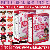Valentine Lucky Charm Cereal Box Favors
