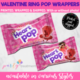 Ring Pop Sucker Valentine Favors