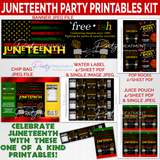Juneteenth Party Printables Kit