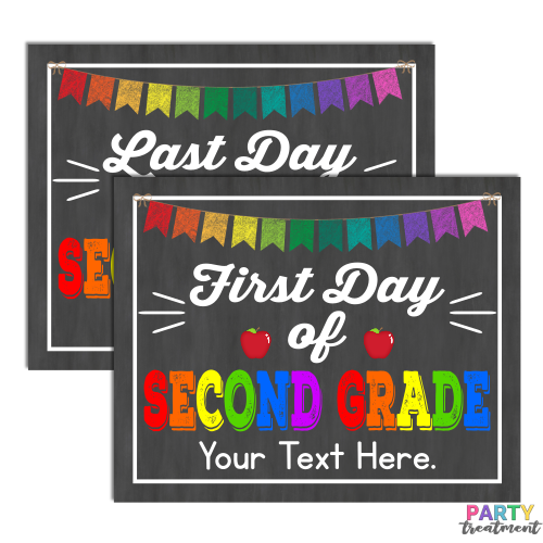 INSTANT DOWNLOAD First and Last Day of Second Grade