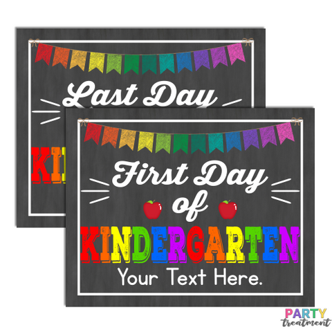 INSTANT DOWNLOAD First and Last Day of Kindergarten