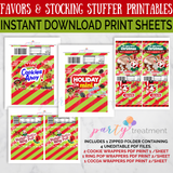 African American Instant Download Christmas Favor and Stocking Stuffer Printables