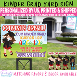 Kindergarten Graduate Yard Sign, Kinder Grad Quarantine Lawn Sign