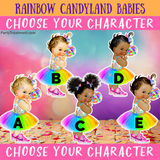 Candyland Baby Backdrop - Choose Your Character