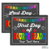 First Day of Fourth Grade School Sign, INSTANT DOWNLOAD and EDITABLE