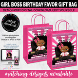 Girl Boss Gift Bag Label, Baby Boss Favor Bag Label, Birthday, Baby Shower, INSTANT DOWNLOAD