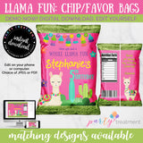 Llama Pink Chip Bag, INSTANT DOWNLOAD