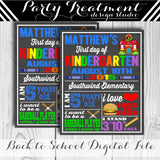 First Day of School Printable Sign for Boy 149