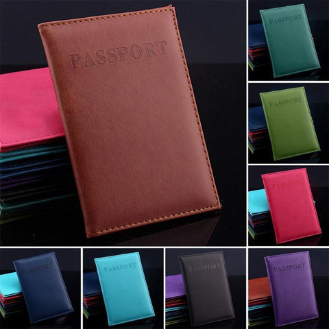 Faux Leather Passport Holders