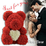 Bear Made Of Roses Gift Box