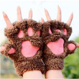 Handmade Ladies Cat Paw Gloves