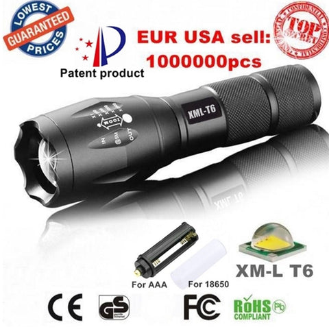 3800LM Aluminum Waterproof Military Flashlight