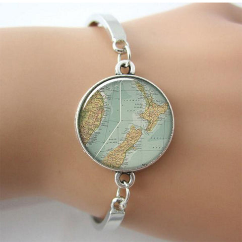 New Zealand Map Bangle - Freedom Travel Gear