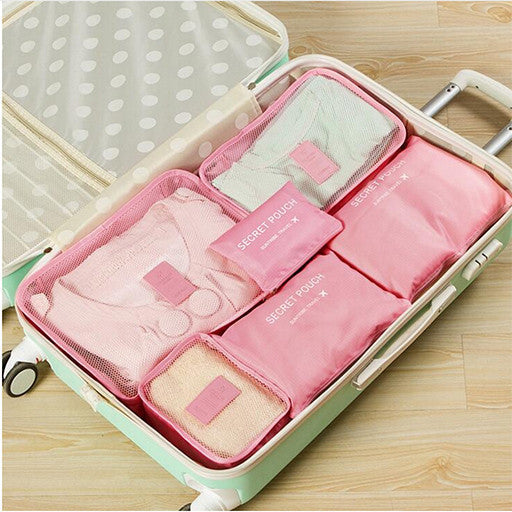 6pc Womens Travel Packing Cubes - Cotton Candy Image