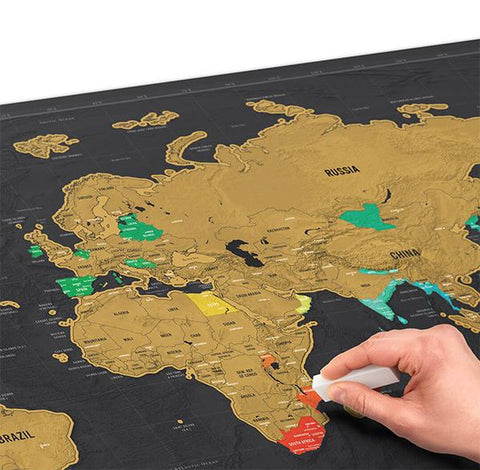 Deluxe scratch off world map freedom travel gear deluxe scratch off world map gumiabroncs Gallery