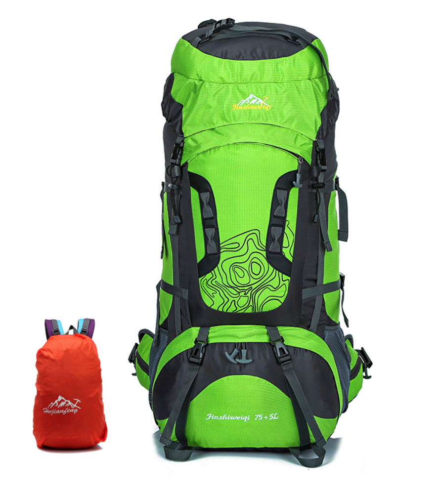 50221f1c1ffd External Frame 80L Large Outdoor Nylon Waterproof Backpack – Freedom ...