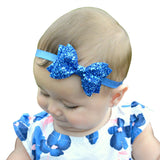 Boutique Sparkly Hair Clip Infant Ribbon Bow Headband Accessory