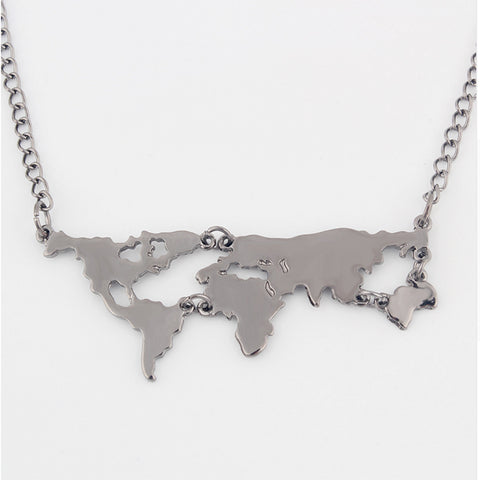 Vintage World Traveler Necklace