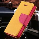 Candy Colour PU Leather iPhone Wallet Case