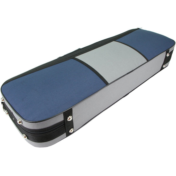 D Z Strad Violin Case - Oblong Grey/Blue