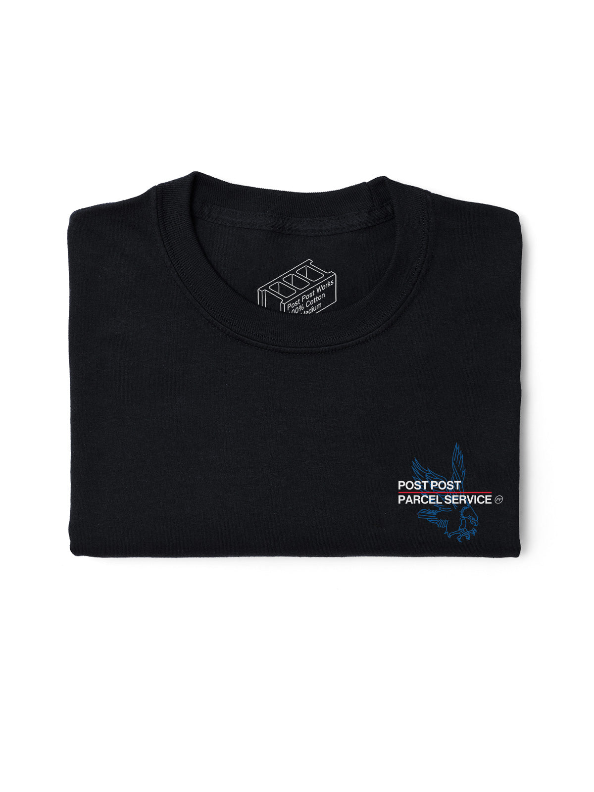 Post Post Parcel Service Tee, Black