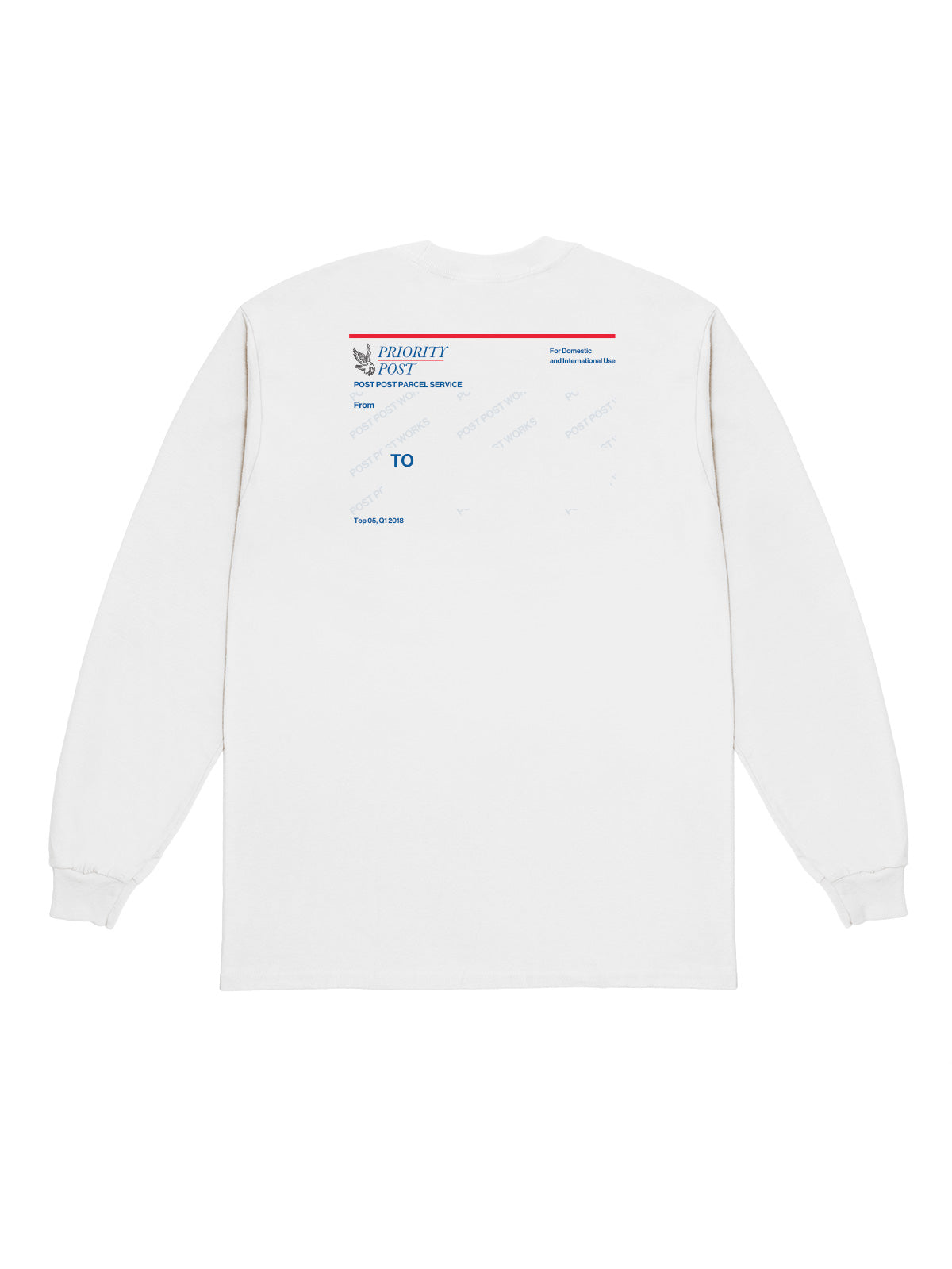 Post Post Parcel Service Tee, White