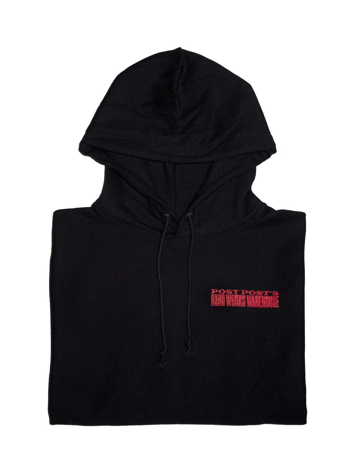 Hard Works Warehouse Reverse Weave Hoodie, Black