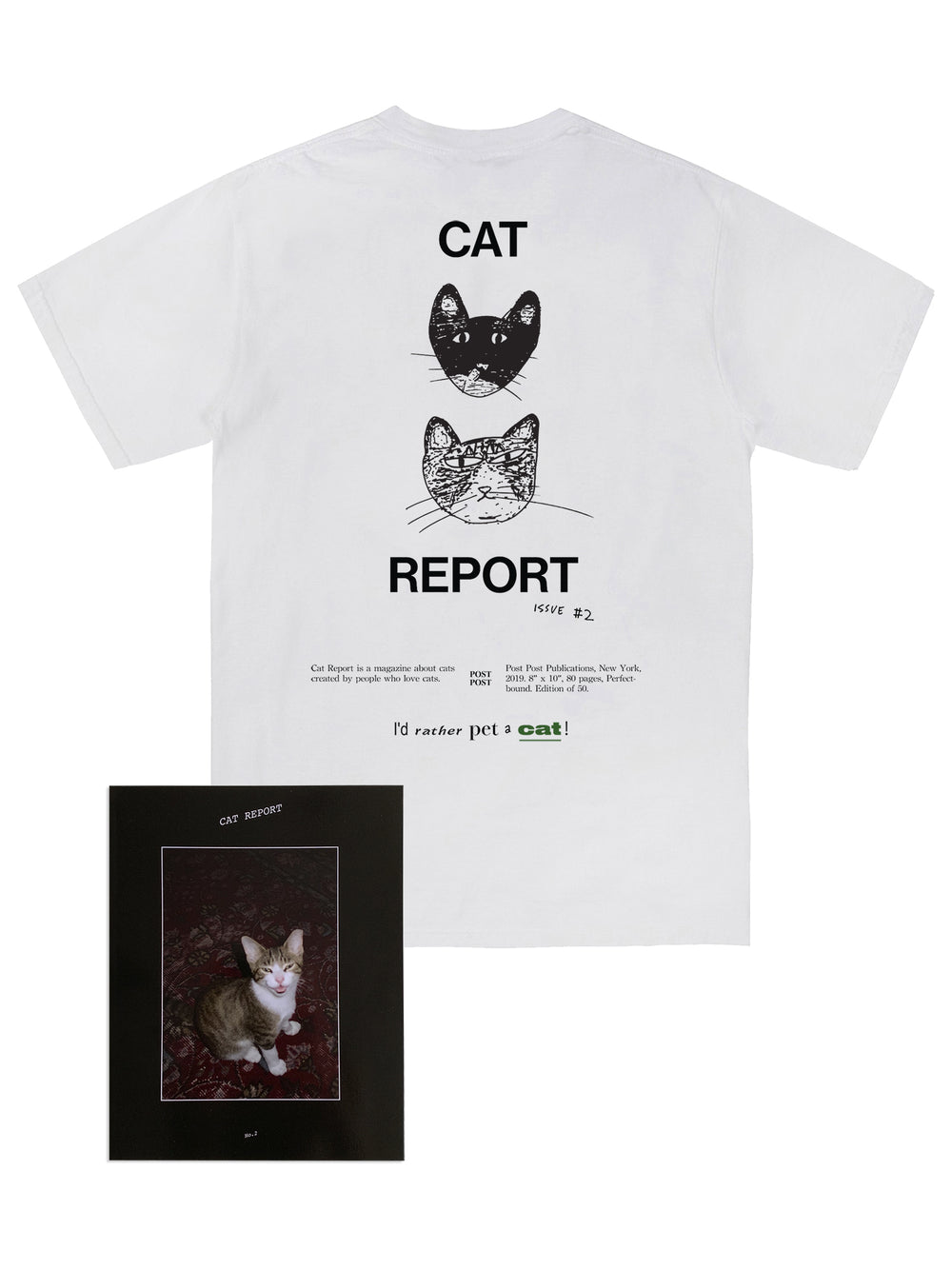 Cat Report No. 2 Tee + Magazine