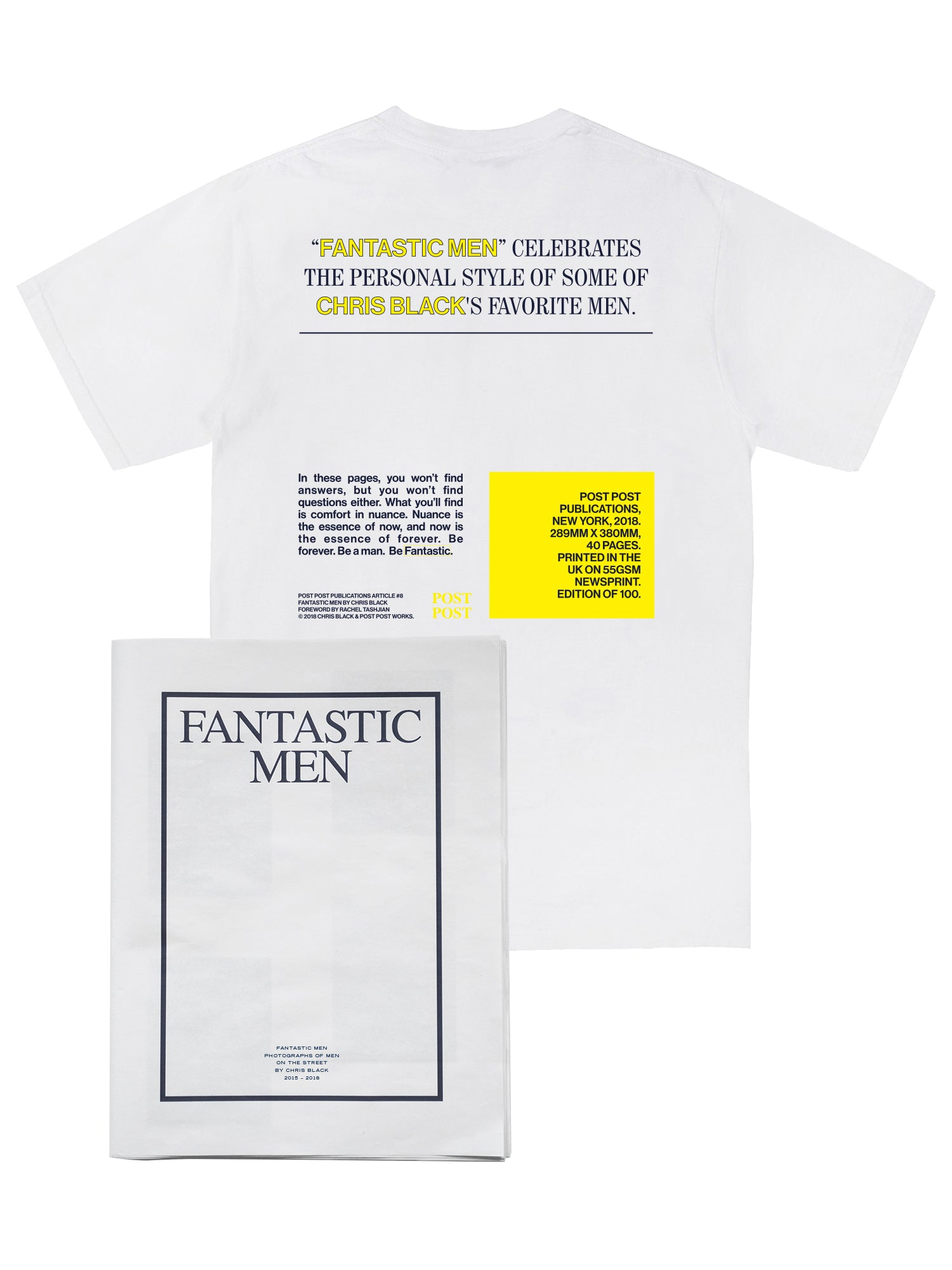 Fantastic Men Tee + Zine