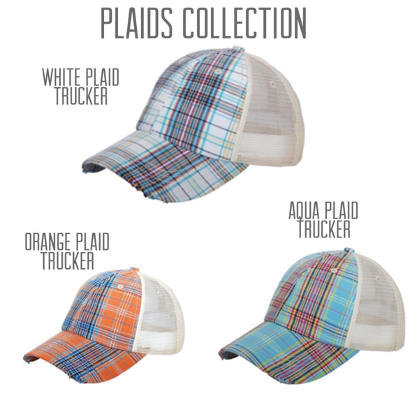 Plaid Trucker Hat | Choose Your Design & Color