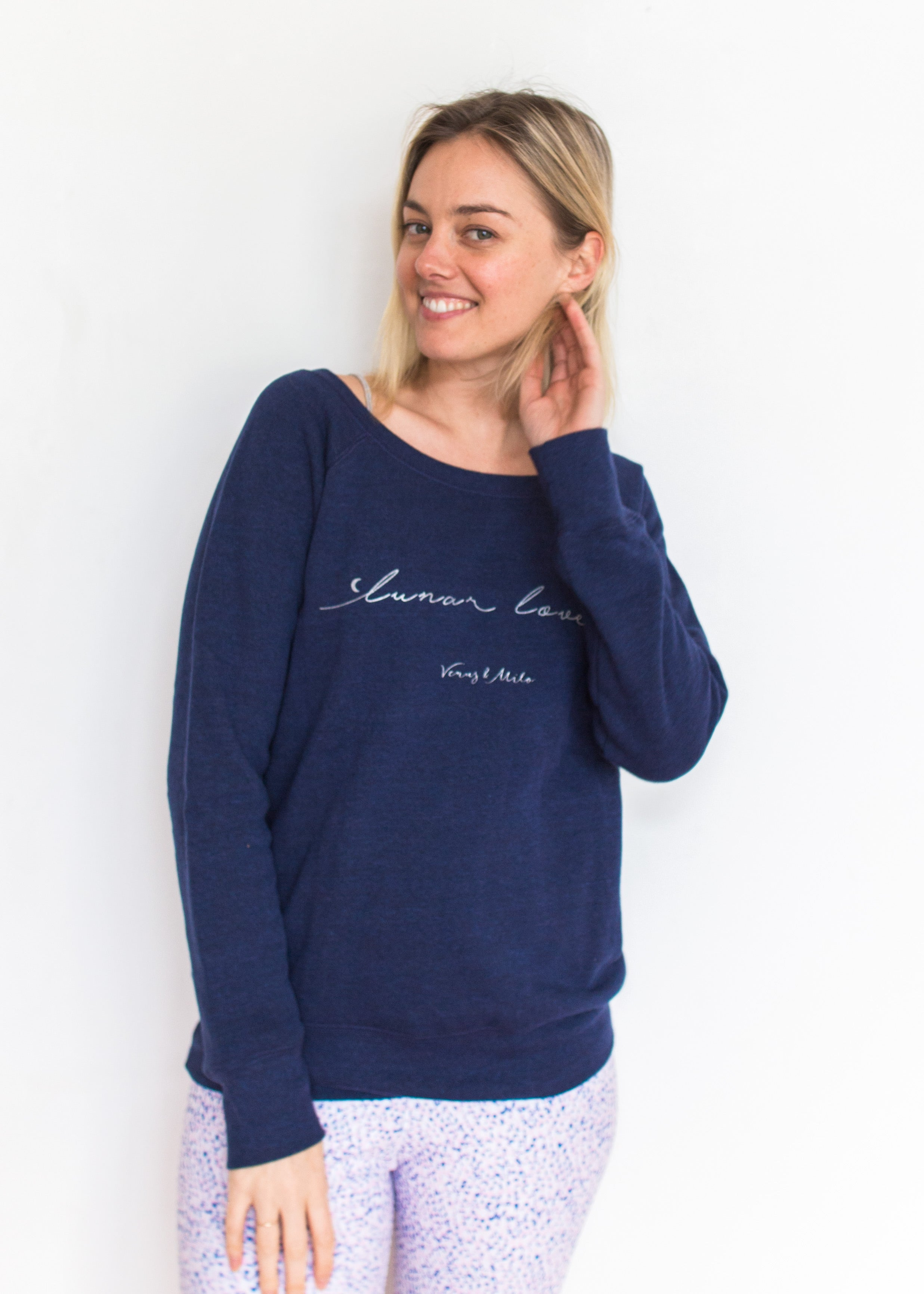 Lunar Lover - Navy Fleece