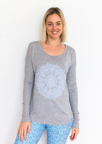 Mandala - Heather Grey Long Sleeve