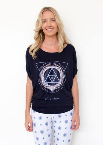 Alchemy Circle Tee - Navy