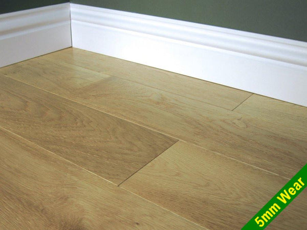 Oak Brushed Lacquered width 155mm thickness 18mm 5mm wear layer £40.99 per m2