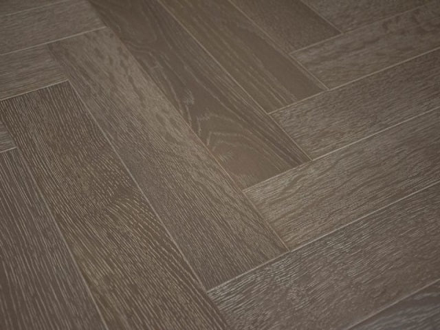 Engineered Lacquered, Slate Grey Herringbone Oak Flooring, £46.33m2 - Shropshire Oak Wood Floor S...