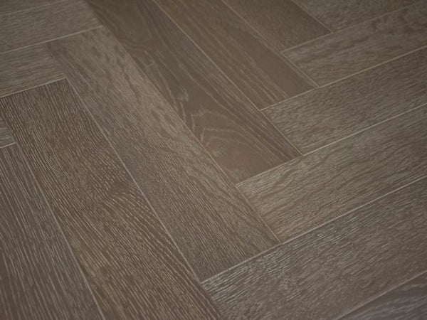 Engineered Lacquered, Slate Grey Herringbone Oak Flooring, £46.32m2 - Shropshire Oak Wood Floor S...