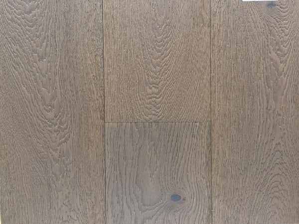 Lena Heavy Brushed Grey White Sand Lacquered Oak Engineered Flooring, £42.26m2 - Shropshire Oak W...