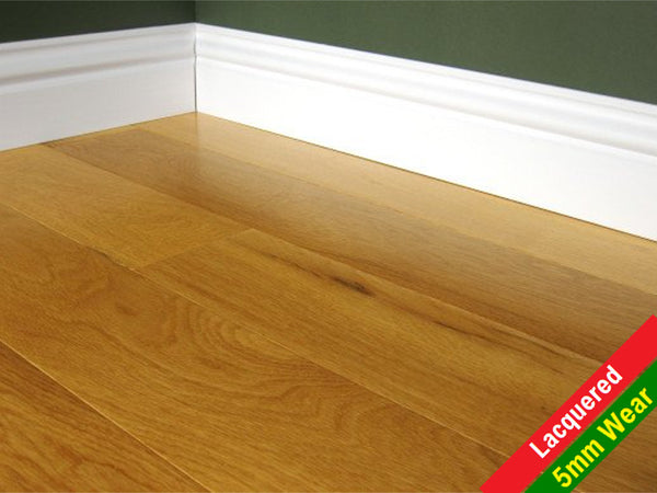Engineered 125mm Lacquered Oak Flooring, £37.04m2 - Shropshire Oak Wood Floor Sales & Accessories