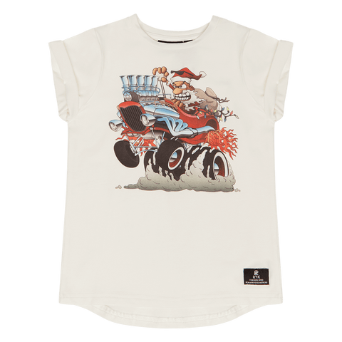 ROCK YOUR BABY | Boys T-Shirt - Santa's Hot Rod