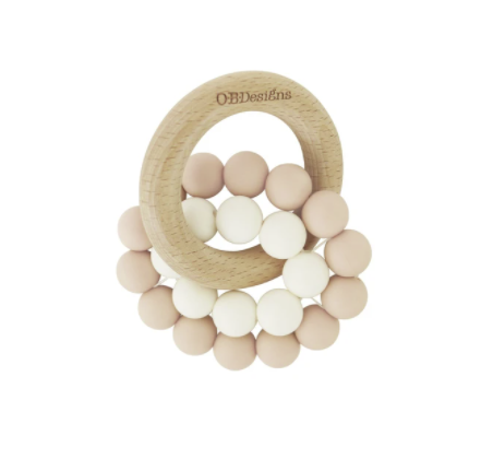 O.B DESIGNS | Eco-Friendly Teether - Blush Pink