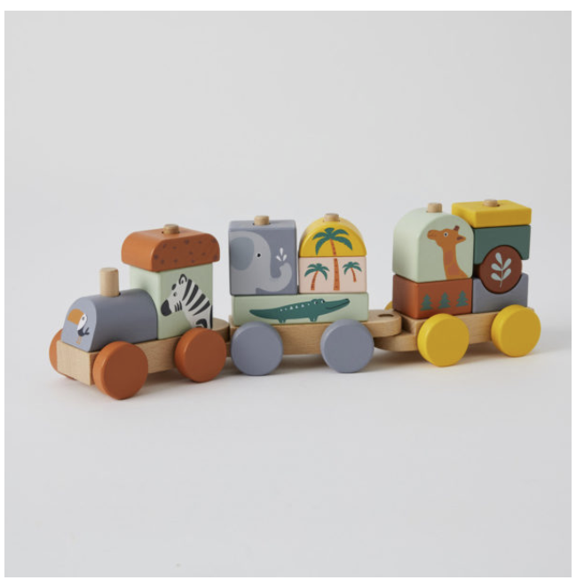 African Animal train Set