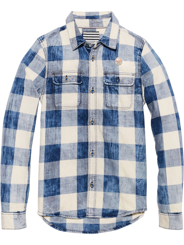 S18 SCOTCH SHRUNK - Checked Indigo Shirt (2365171236924)