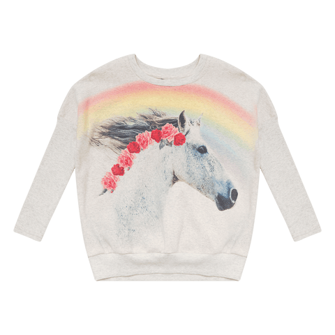 ROCK YOUR BABY | Rainbow Horse L/S T-Shirt