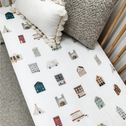POP YA TOT | The Old House Muslin Cot Sheets