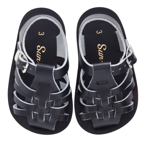 SALTWATER SANDALS - Baby Sun San Sailor Navy