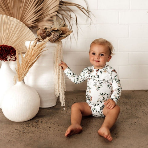 SNUGGLE HUNNY | Long Sleeve Bodysuit - Eucalypt