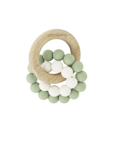 O.B DESIGNS | Eco-Friendly Teether - Sage